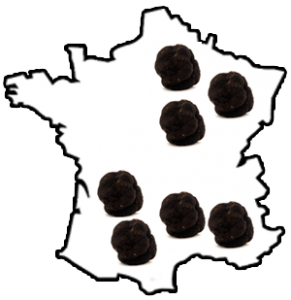 Carte de France de la truffe